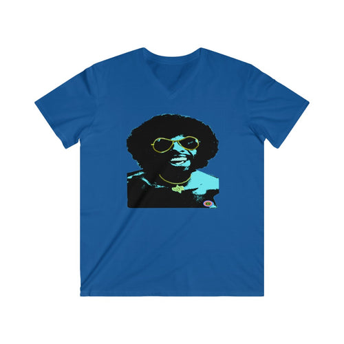 Sly stone soul brother...Men's Fitted V-Neck Short Sleeve Tee..