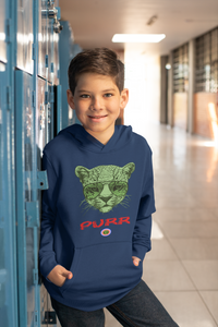 Cat in glasses..Kids Hoodie