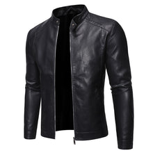 Load image into Gallery viewer, Beggarmand trend vintage black leather jacket.