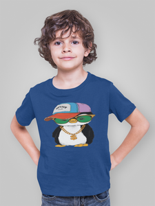 penguin hipster  Kids Softstyle Tee