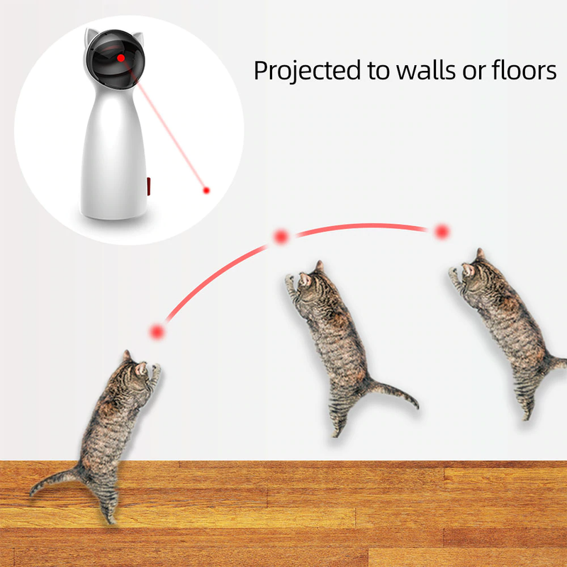 Invigorating Cat Laser Toy - Pet Me More Best Pet Hair/Lint Removal Brush Remover for Clothes, Furniture & Carpet