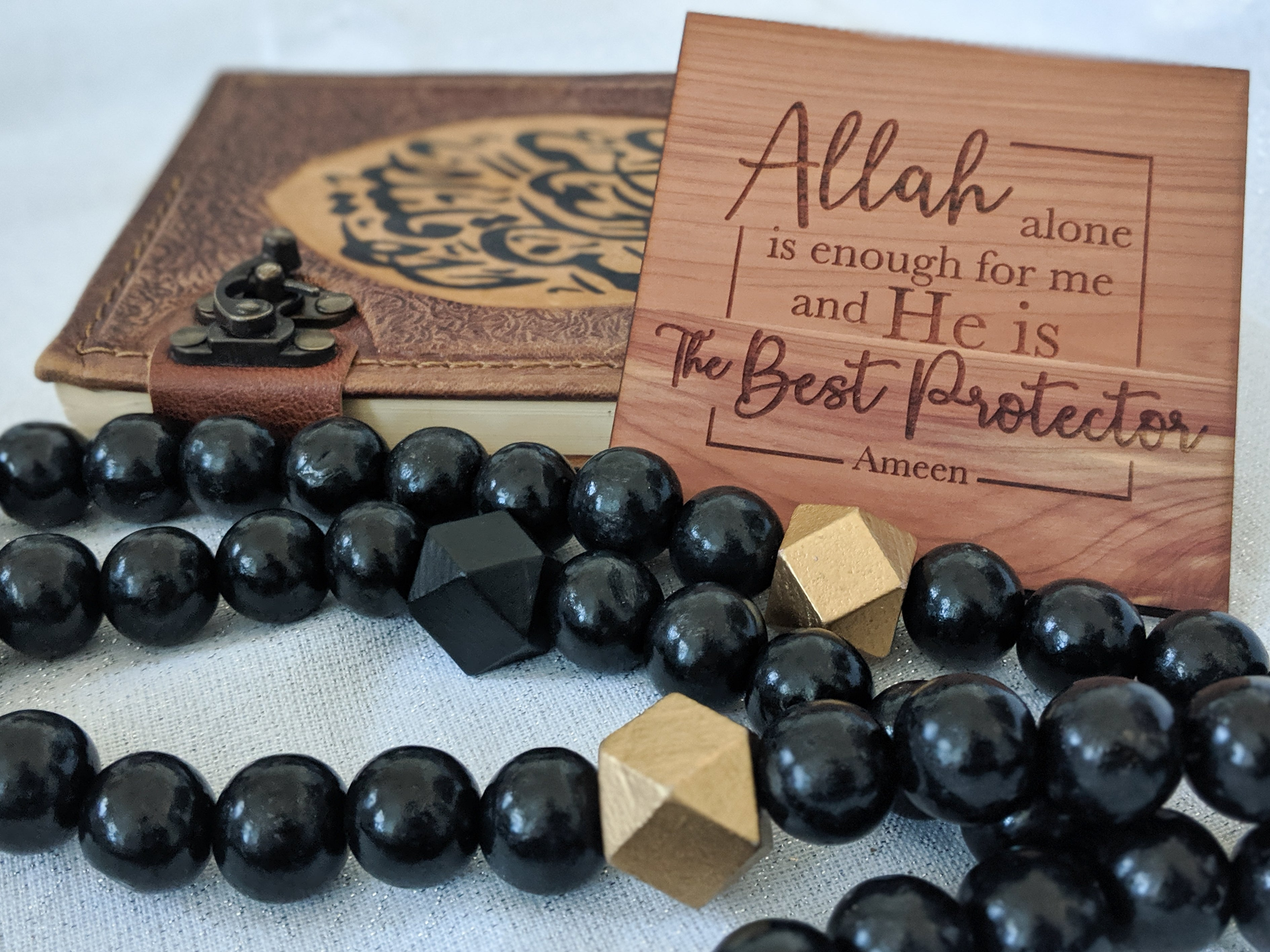 Black Thikr Bead