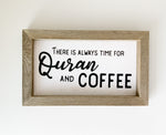 Quran & Coffee Wood Sign