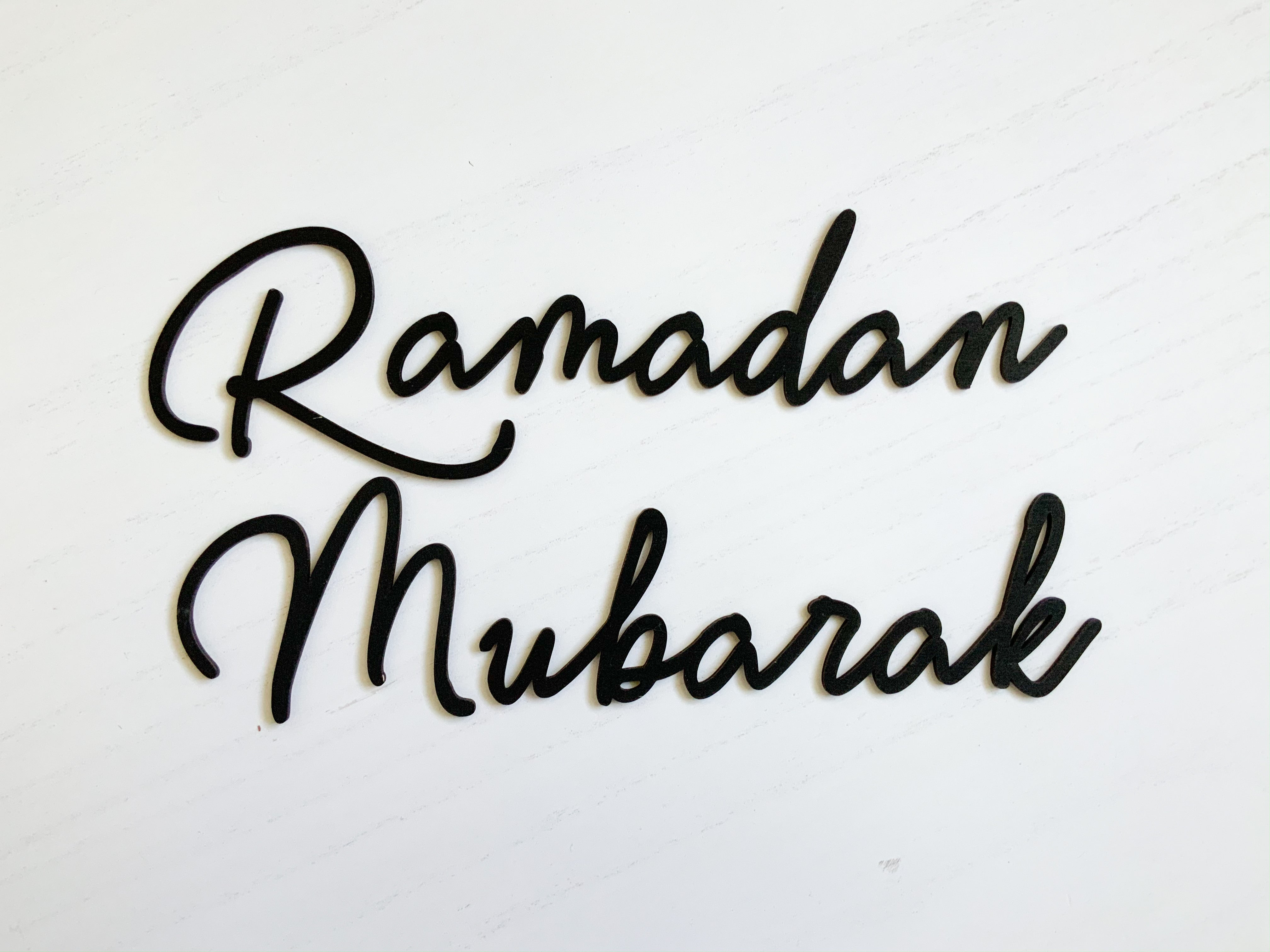 Ramadan Letters for DIYers