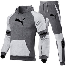 Load image into Gallery viewer, Spring Autumn Men Hoodies Sport Suit Fashion 2021 Brand Casual Tracksuit Mens Set Sports Two Piece Stripe Hoodie Pant Male Sets