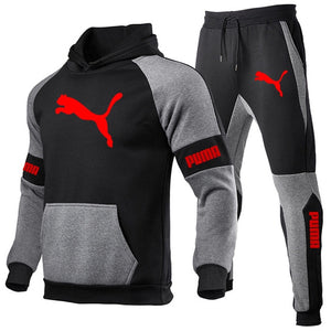 Spring Autumn Men Hoodies Sport Suit Fashion 2021 Brand Casual Tracksuit Mens Set Sports Two Piece Stripe Hoodie Pant Male Sets