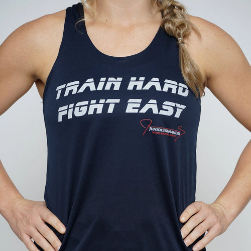 Train Hard Fight Esay Badger Women's Racerback Tank