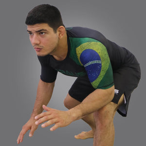 Rash Guard Brazil Short Sleeve Braus