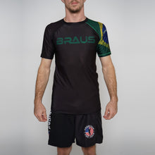 Load image into Gallery viewer, Rash Guard Brazil Short Sleeve Braus