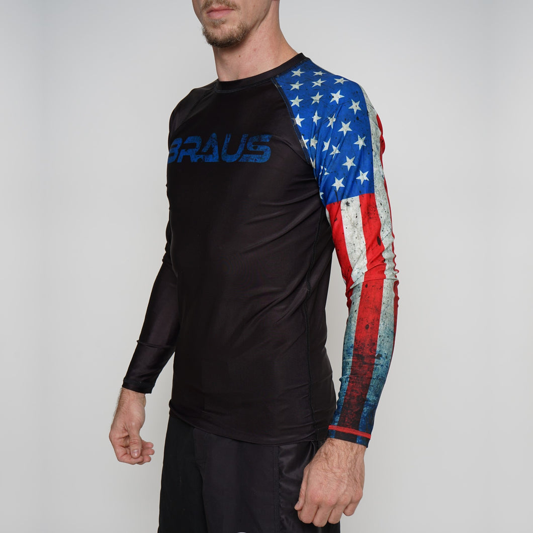 Rash Guard  Adult  Usa Long Sleeve Braus