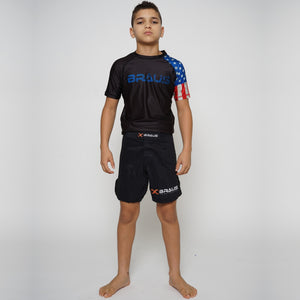 Rash Guard Short Sleeve Usa Kids Braus