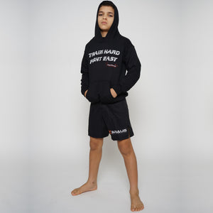 Kids Hoodies Train Hard Fight Easy