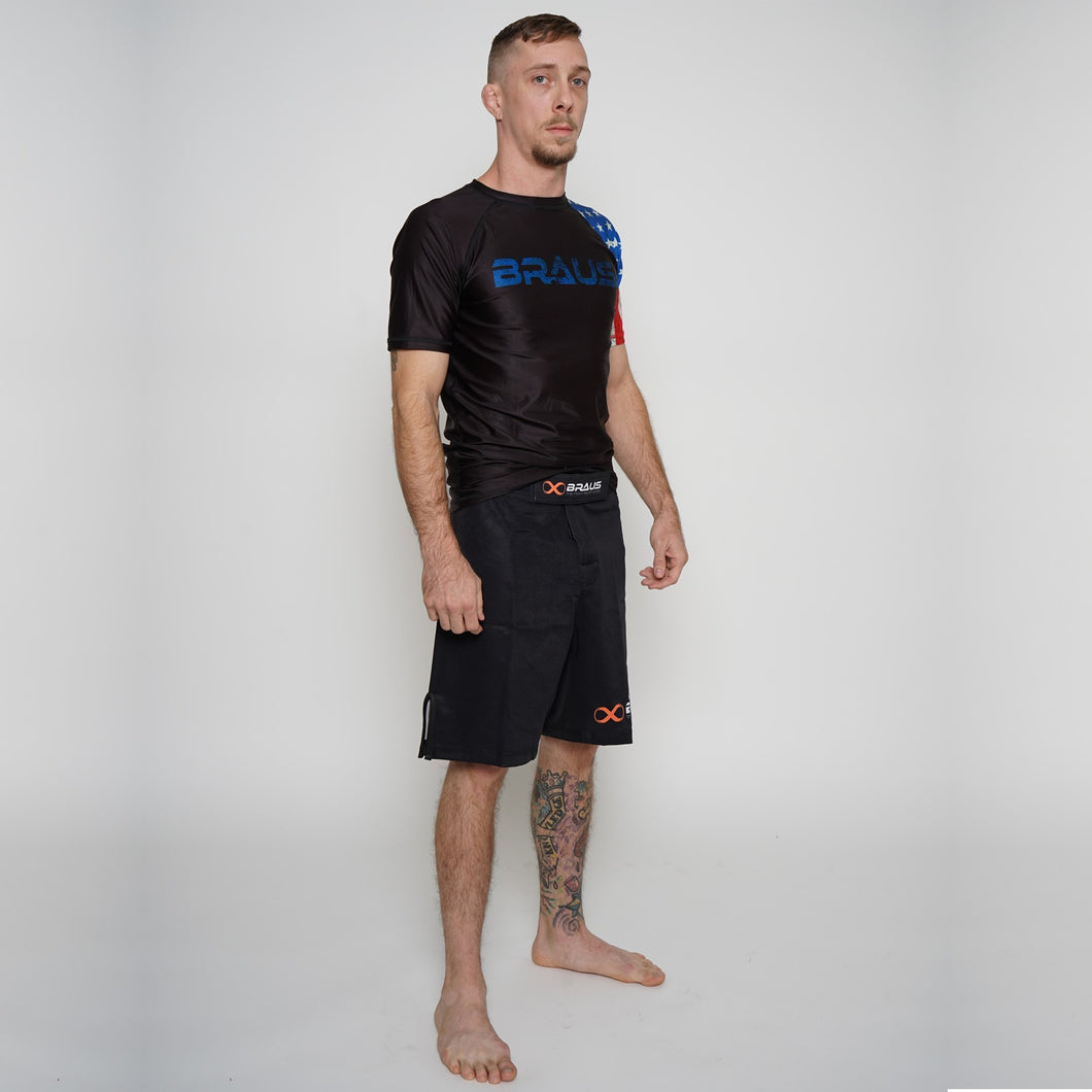Rash Guard Adult Usa Short Sleeve Braus