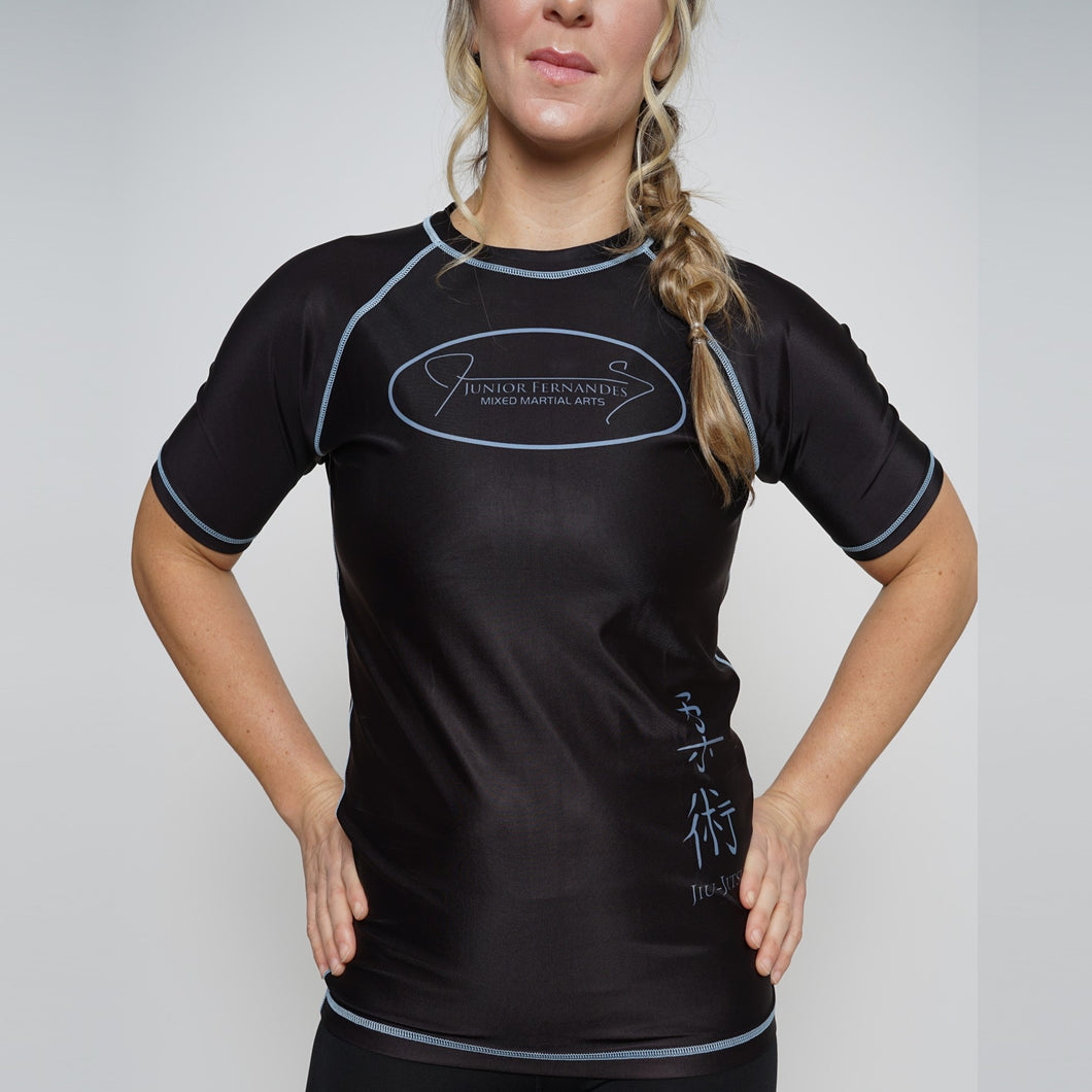 Rash Guard Junior Fernandes Female Shorts Sleeve Black