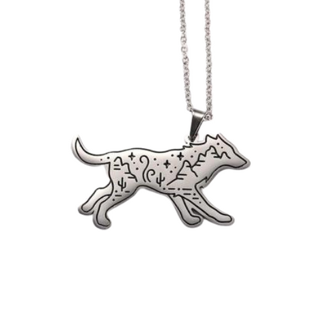 Collier Loup Paysage