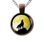 Collier Loup Lune Jaune