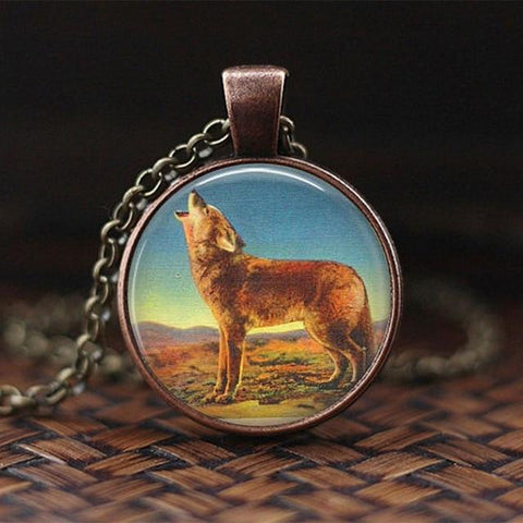 Bijoux Loup Vintage orange