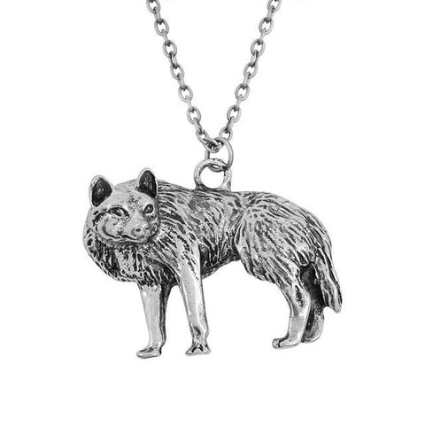 Collier Loup Vintage