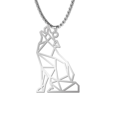 Collier Loup Sculpture Hurlant