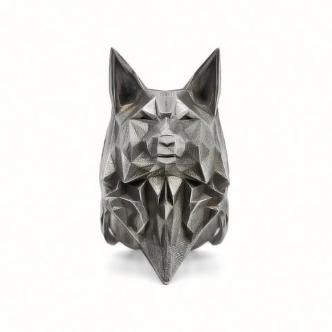 Bague Loup Origami