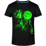 T-shirt Loup Lumineu Lune