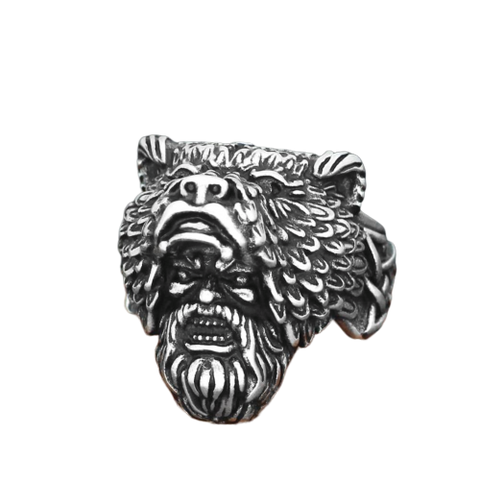 Bague Loup Homme Viking
