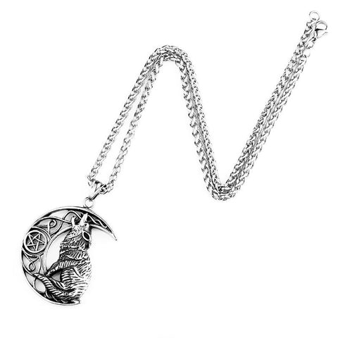 Collier Loup Lune