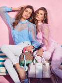 GUESS small dome logo satchel model image