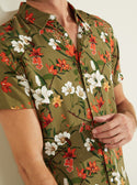 GUESS Eco Parachute Floral Mens Shirt front detailed  view