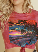 GUESS Island Time Graphic Crop Womens Tee  front detailed view