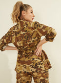 GUESS Kammie Cargo Camo Women's Jacket Back View