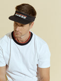 GUESS Logo Sports Black Men's Cap Visor Front View