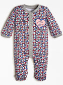 GUESS Love Heart Baby Girls Jumpsuit front view