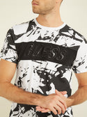 GUESS Neoprene Logo Mens Tee front detailed view