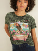 GUESS Surf Tour Graphic Womens Tee Front detailed View