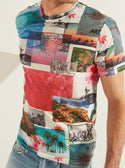 GUESS Wynn Postcard Crew Neck Men's Tee Front detailed view