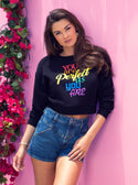 GUESS You Are Perfect Black Womens Pullover Jumper model view