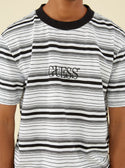 Guess Originals Cascade Striped Tee in Black and White