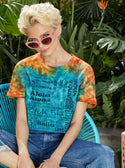 GUESS ECO INTERNATIONAL GRAPHIC CROP TEE