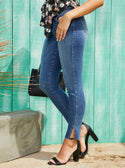 medium blue guess Mid-Rise Sexy Curve Skinny Denim Jeans in Breann Wash model image
