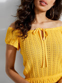 GUESS CAIA OFF-SHOULDER FRILLED TOP image