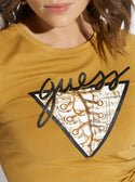 GUESS Short Sleeve Lace Up Logo Tee image