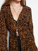 GUESS RHELIN FLOCKED LEOPARD DUSTER image