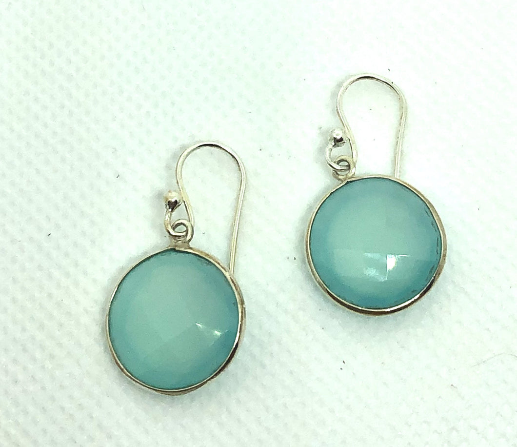 Beach Glass Round Earrings