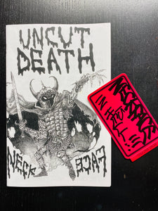 """UNCUT DEATH"" ZINE 2ND WAVE! (ONE PER CUSTOMER!) USA ONLY."