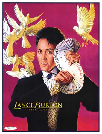 Lance Burton Card Fans and Dove Poster