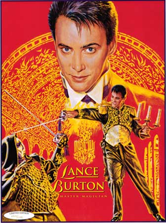 Lance Burton sword fight poster