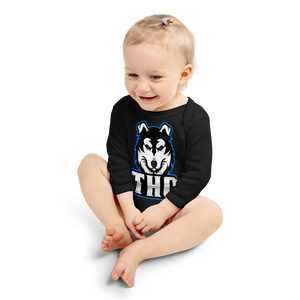 Blue Logo Long Sleeve Onesie