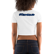 Load image into Gallery viewer, Blue Logo Women's Crop Tee