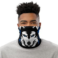 Load image into Gallery viewer, Blue Logo Facemask - Black